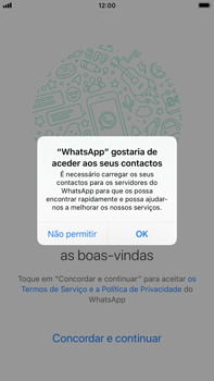 Apple iPhone 6s Plus - iOS 12 - Aplicações - Como configurar o WhatsApp -  5
