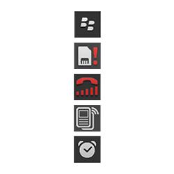 BlackBerry Q10 - Premiers pas - Comprendre les icônes affichés - Étape 27