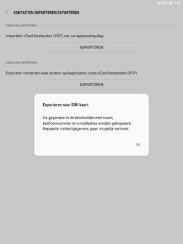 Samsung Galaxy Tab S2 9.7 - Android Nougat - Contacten en data - Contacten kopiëren van toestel naar SIM - Stap 9