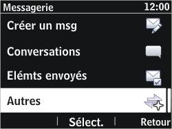 Nokia Asha 302 - Messagerie vocale - Configuration manuelle - Étape 4