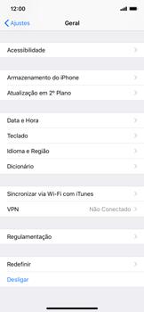 Apple iPhone XR - Funções básicas - Como restaurar as configurações originais do seu aparelho - Etapa 4
