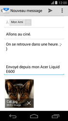Acer Liquid E600 - E-mail - envoyer un e-mail - Étape 14