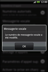 HTC A6262 Hero - Messagerie vocale - Configuration manuelle - Étape 7