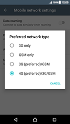 Sony Xperia XZ (F8331) - Android Nougat - Network - Change networkmode - Step 8