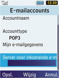 Samsung C3350 Xcover 2 - E-mail - e-mail instellen: POP3 - Stap 20
