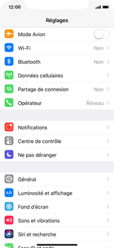 Apple iPhone X - Wifi - configuration manuelle - Étape 2