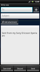 Sony Ericsson Xperia Arc S - Email - Sending an email message - Step 5