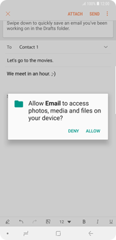 Samsung Galaxy Note9 - E-mail - Sending emails - Step 12