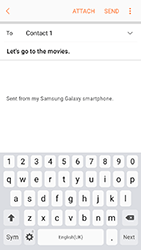 Samsung A320 Galaxy A3 (2017) - Email - Sending an email message - Step 10