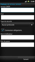 Sony MT27i Xperia Sola - E-mail - Configuration manuelle - Étape 12