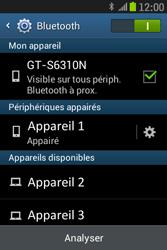 Samsung S6310 Galaxy Young - Bluetooth - connexion Bluetooth - Étape 11