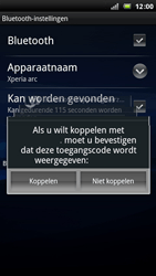 Sony Ericsson Xperia Arc - Bluetooth - koppelen met ander apparaat - Stap 10