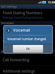 Samsung S5570 Galaxy Mini - Voicemail - Manual configuration - Step 7