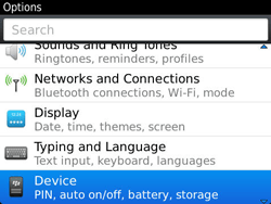 BlackBerry 9790 Bold - Settings - Configuration message received - Step 4