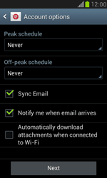 Samsung I8190 Galaxy S III Mini - E-mail - Manual configuration (yahoo) - Step 8