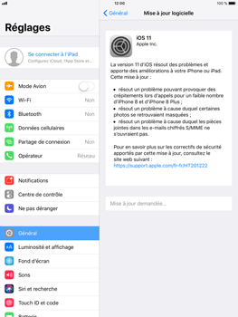 Apple iPad Air 2 - iOS 11 - Appareil - Mise à jour logicielle - Étape 6