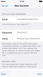 Apple iPhone 5s iOS 9 - Applications - Create an account - Step 12
