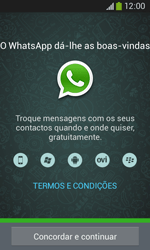 Samsung Galaxy Ace 3 LTE - Aplicações - Como configurar o WhatsApp -  5