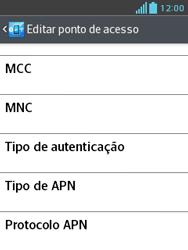 LG E430 Optimus L3 II - Internet (APN) - Como configurar a internet do seu aparelho (APN Nextel) - Etapa 13