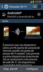 Samsung Galaxy Grand Neo - Wi-Fi - Como usar seu aparelho como um roteador de rede wi-fi - Etapa 7