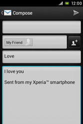 Sony ST23i Xperia Miro - Email - Sending an email message - Step 9
