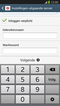 Samsung N9005 Galaxy Note III LTE - E-mail - Account instellen (POP3 met SMTP-verificatie) - Stap 14