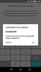 Huawei Y6 (2017) - Aplicações - Como configurar o WhatsApp -  10