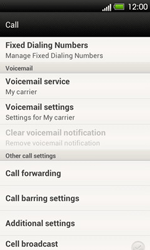 HTC T320e One V - Voicemail - Manual configuration - Step 5
