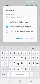 Samsung Galaxy S8 - Android Oreo - Wifi - configuration manuelle - Étape 7