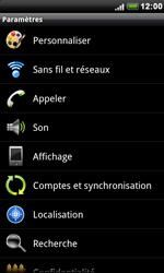 HTC S510e Desire S - Wifi - configuration manuelle - Étape 3