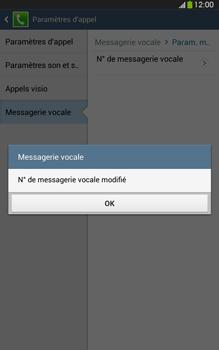 Samsung T315 Galaxy Tab 3 8-0 LTE - Messagerie vocale - Configuration manuelle - Étape 10