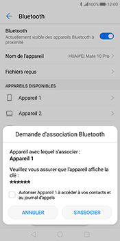 Huawei Mate 10 Pro - Bluetooth - connexion Bluetooth - Étape 9