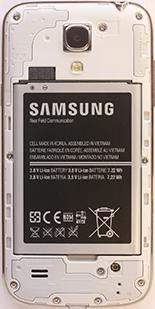 Samsung Galaxy S4 Mini - Primeros pasos - Quitar y colocar la batería - Paso 3