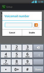 LG E460 Optimus L5 II - Voicemail - Manual configuration - Step 8