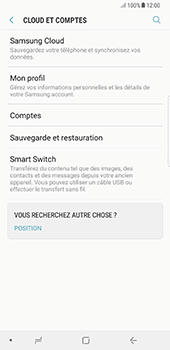 Samsung N950F Galaxy Note 8 - Device maintenance - Back up - Étape 7