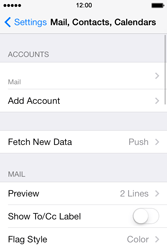 Apple iPhone 4 S iOS 7 - Email - Manual configuration - Step 24