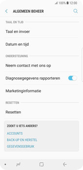 Samsung Galaxy S9 - Device maintenance - Terugkeren naar fabrieksinstellingen - Stap 6