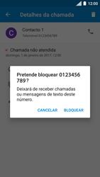 Motorola Moto C Plus - Chamadas - Como bloquear chamadas de um número -  7