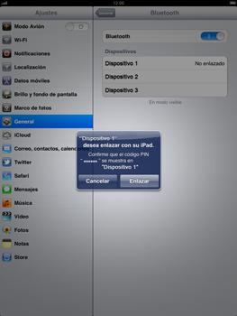 Apple iPad 2 - Bluetooth - Conectar dispositivos a través de Bluetooth - Paso 7