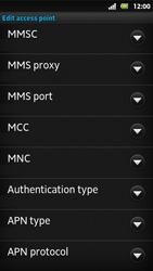 Sony MT27i Xperia Sola - MMS - Manual configuration - Step 11