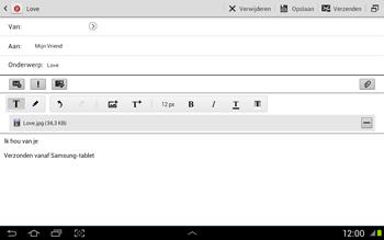 Samsung N8020 Galaxy Note 10-1 LTE - E-mail - Hoe te versturen - Stap 17