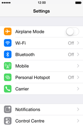 Apple iPhone 4s iOS 8 - WiFi and Bluetooth - Manual configuration - Step 3