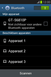 Samsung S6810P Galaxy Fame - Bluetooth - koppelen met ander apparaat - Stap 8