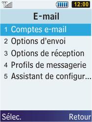 Samsung C3350 Xcover 2 - E-mail - Configuration manuelle - Étape 8