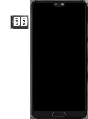 Huawei P20 - Premiers pas - Insérer la carte SIM - Étape 6
