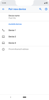 Google Pixel 3XL - Bluetooth - Pair with another device - Step 9
