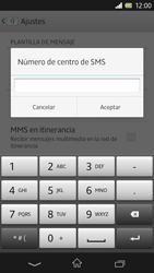 Sony Xperia Z - Mensajería - Configurar el equipo para mensajes de texto - Paso 7