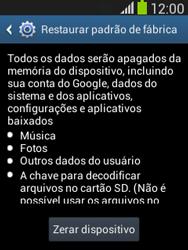 Samsung S5310B Galaxy Pocket Neo - Funções básicas - Como restaurar as configurações originais do seu aparelho - Etapa 8
