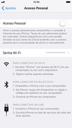 Apple iPhone iOS 11 - Wi-Fi - Como usar seu aparelho como um roteador de rede wi-fi - Etapa 6