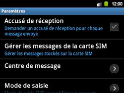 Samsung B5510 Galaxy TXT - SMS - Configuration manuelle - Étape 4